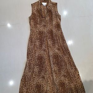 CACHE long dress or cover up leopard print SZ 8